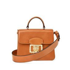 Small Lion Lansdowne Bag in Smooth Tan
