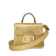 Small Lion Lansdowne Bag in Gold Moire Print