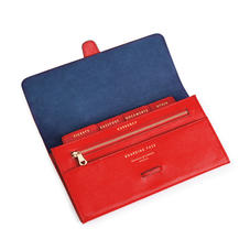 Travel Wallet in Scarlet Saffiano