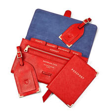 Travel Collection in Scarlet Saffiano