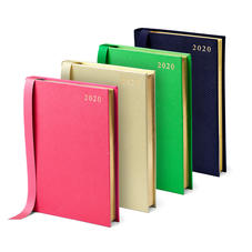 A5 Day to Page Leather Diaries