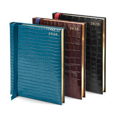 A4 Day to Page Leather Diaries