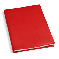 A4 Refillable Leather Journal in Scarlet Saffiano
