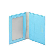 ID & Travel Card Holder in Bright Blue Saffiano