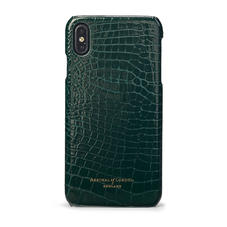 iPhone Xs Max Cover in Evergreen Patent Croc