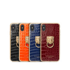 Lion iPhone Xs Max Leather Cases & Covers