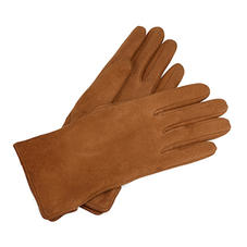 Sheepskin Lined Suede Gloves