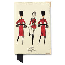 Guard Girls Passport Cover in Ivory Saffiano