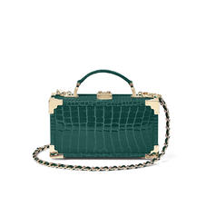 Trinket Box in Evergreen Patent Croc