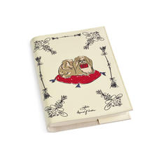 Pekingese Dog A5 Refillable Notebook in Ivory Saffiano