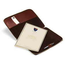 Executive A4 Zipped Padfolio in Smooth Cognac & Espresso Suede