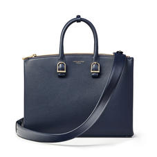 Madison Tote in Navy Pebble