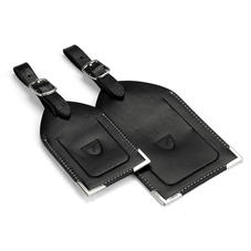 Set of 2 Luggage Tags in Smooth Black