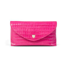 Sunglasses Case in Deep Shine Penelope Pink Small Croc