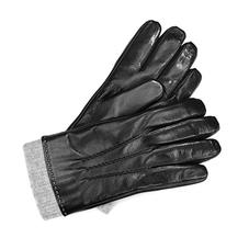 Men's Knitted Cuff Leather Gloves
