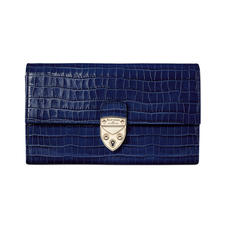Mayfair Purse in Deep Shine Midnight Blue Small Croc