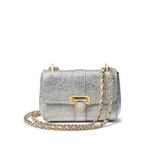 Micro Lottie Bag in Silver Python Print with Perso Lock