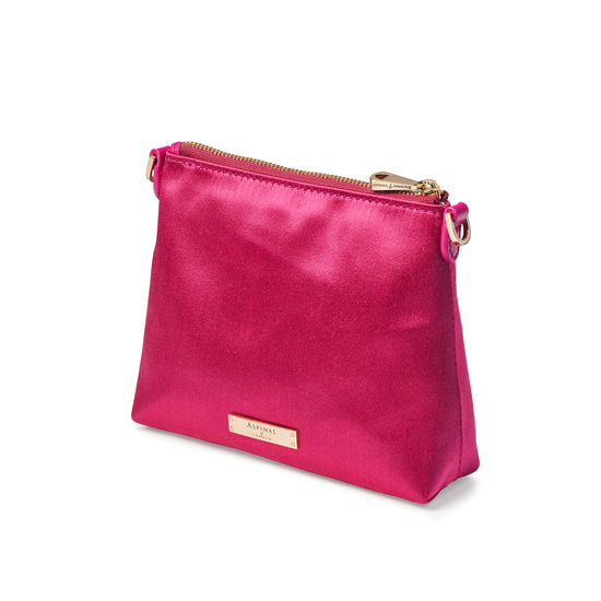 Trunk Pouch in Penelope Pink Satin from Aspinal of London