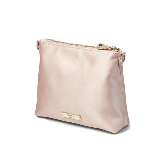 Trunk Pouch in Shell Pink Satin from Aspinal of London