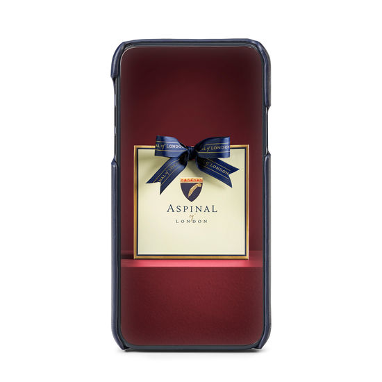 iPhone Xs Case in Smooth Navy from Aspinal of London