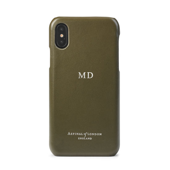 iPhone Xs Case in Smooth Sage from Aspinal of London