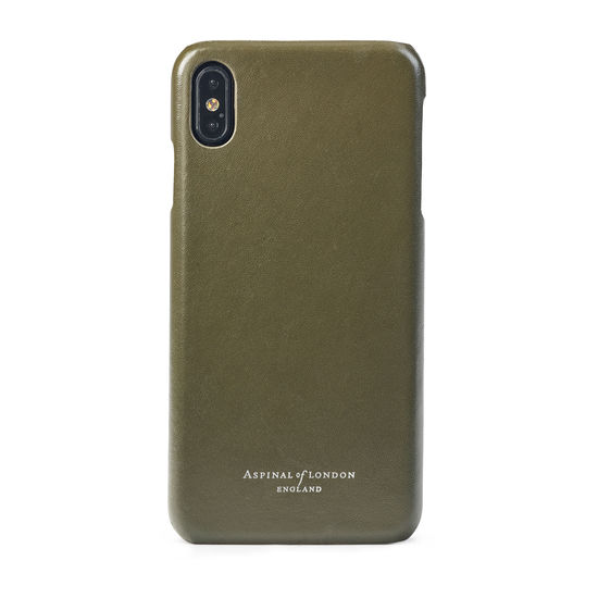 iPhone Xs Max Case in Smooth Sage from Aspinal of London