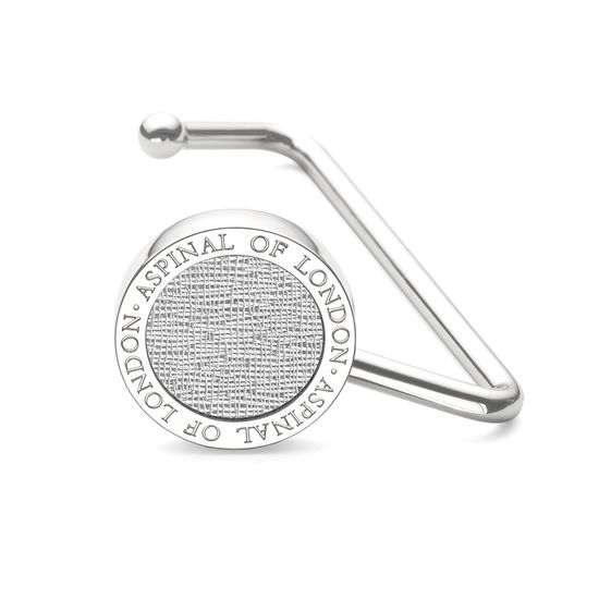 Aspinal Handbag Hook in Silver Saffiano from Aspinal of London