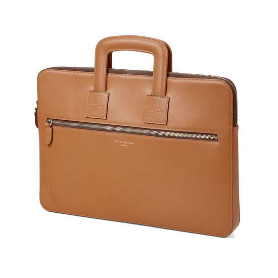 Connaught Document Case in Smooth Tan from Aspinal of London