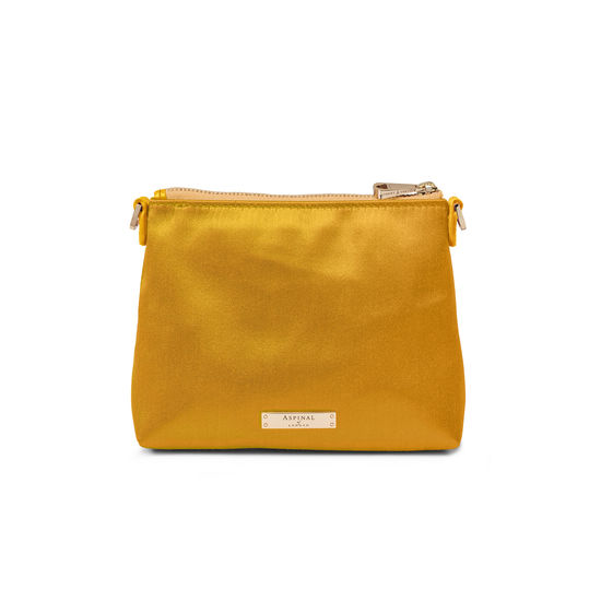 Trunk Pouch in Gold Satin from Aspinal of London