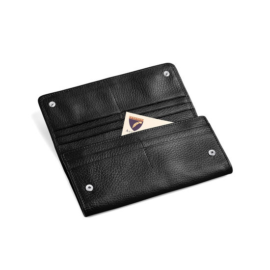 Lottie Purse in Black Pebble from Aspinal of London