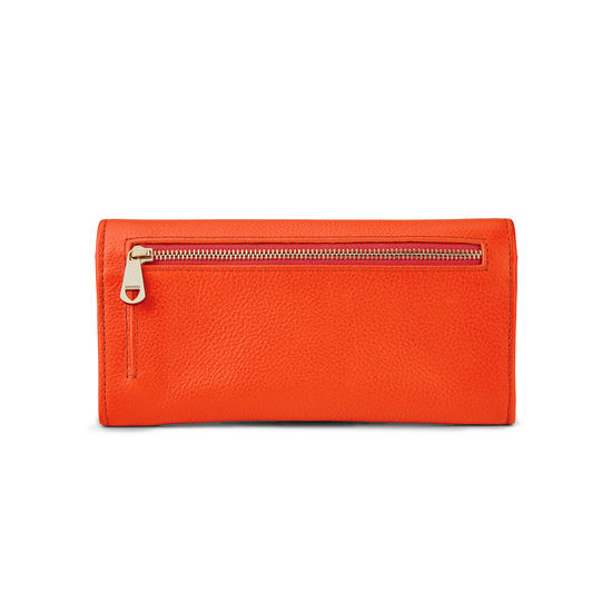 Lottie Purse in Orange Small Grain Pebble from Aspinal of London