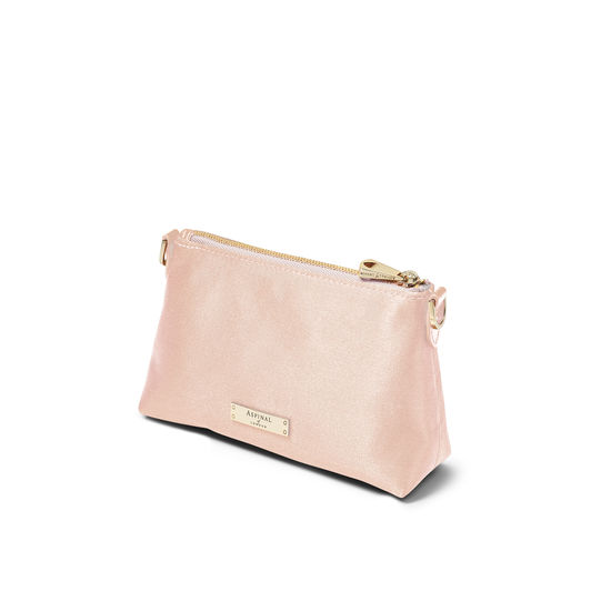 Trinket Pouch in Shell Pink Satin from Aspinal of London