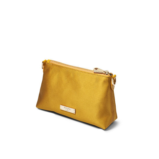 Trinket Pouch in Gold Satin from Aspinal of London