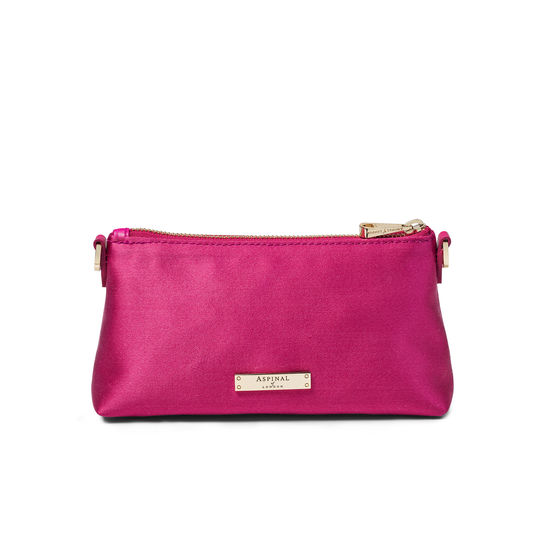 Trinket Pouch in Penelope Pink Satin from Aspinal of London