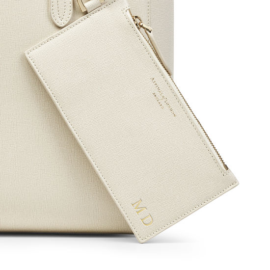 Aspinal Essential Tote in Ivory Saffiano from Aspinal of London