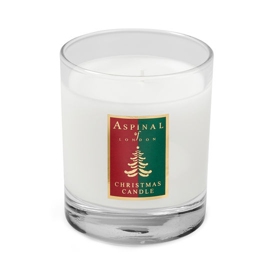 Aspinal Christmas Candle in Pine & Pink Pepper from Aspinal of London