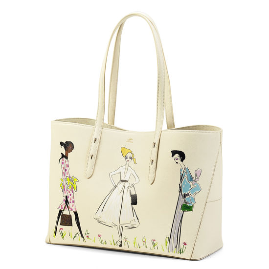 Giles x Aspinal (Regent Tote - Three Girls Print) from Aspinal of London
