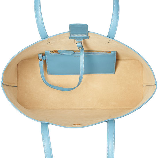 Regent Tote in Bluebird Saffiano from Aspinal of London