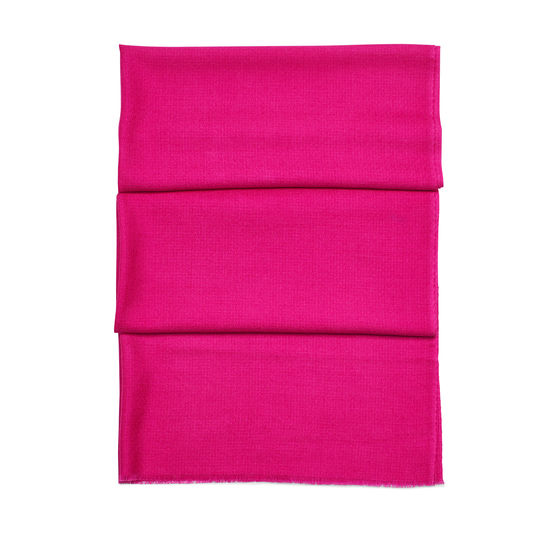 Diamond Weave Merino Wool Scarf in Penelope Pink from Aspinal of London