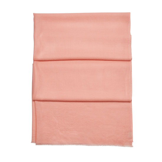 Diamond Weave Merino Wool Scarf in Shell Pink from Aspinal of London