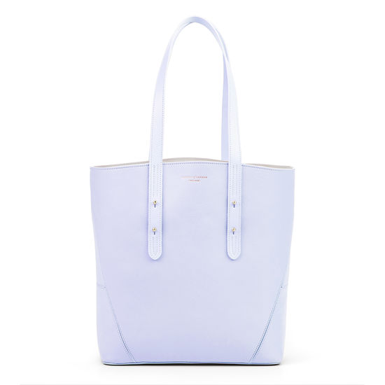 Essential 'A' Tote in English Lavender Small Grain Pebble from Aspinal of London