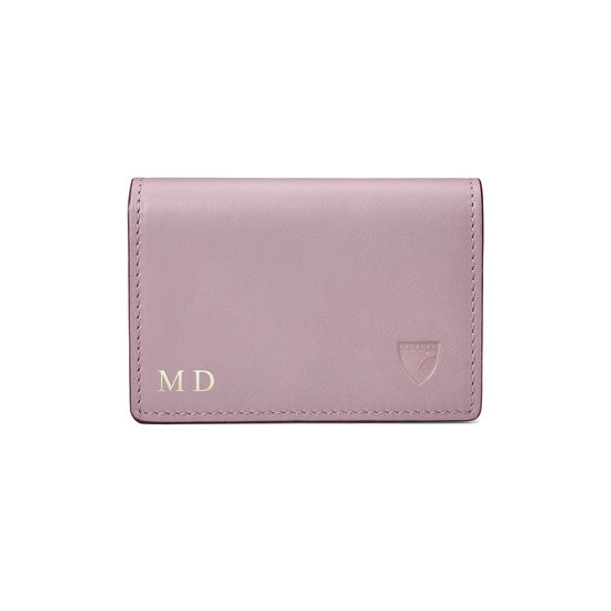 Accordion Credit Card Holder in Smooth Lilac from Aspinal of London