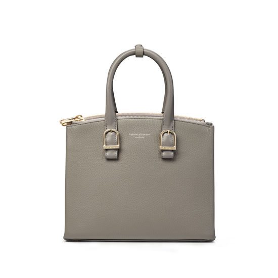 Midi Madison Tote in Warm Grey Pebble from Aspinal of London