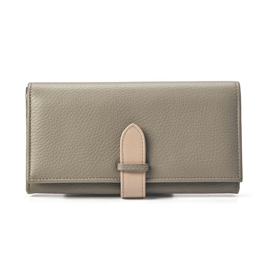 London Ladies' Purse Wallet in Warm Grey Pebble & Smooth Soft Taupe from Aspinal of London