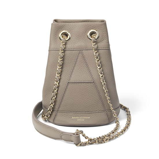 Origami Duffle Bag in Warm Grey Pebble from Aspinal of London