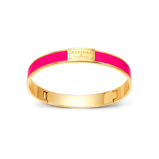 Enamel Bracelet in Penelope Pink from Aspinal of London