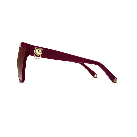 St. Tropez Sunglasses in Bordeaux Acetate from Aspinal of London