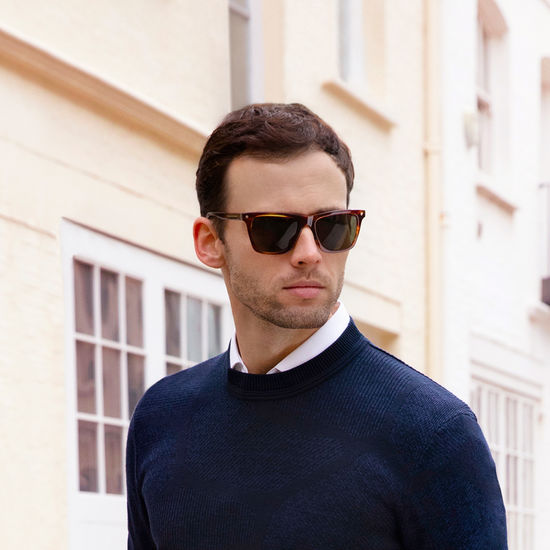 St. Raphael Sunglasses in Black Acetate from Aspinal of London