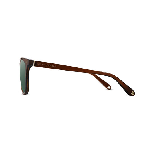 Biarritz Sunglasses in Cognac Acetate from Aspinal of London