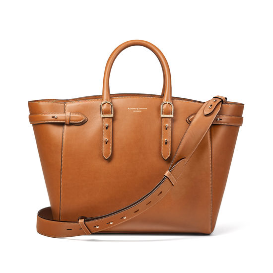 Large Marylebone Tote in Smooth Tan from Aspinal of London